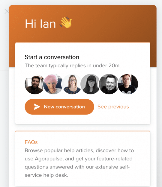 Agorapulse Support Chat