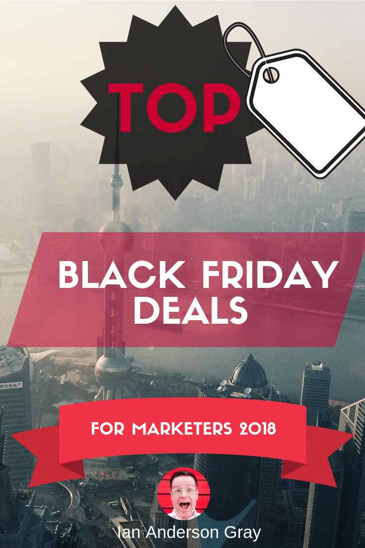 Top Black Friday Deals for Marketers 2018