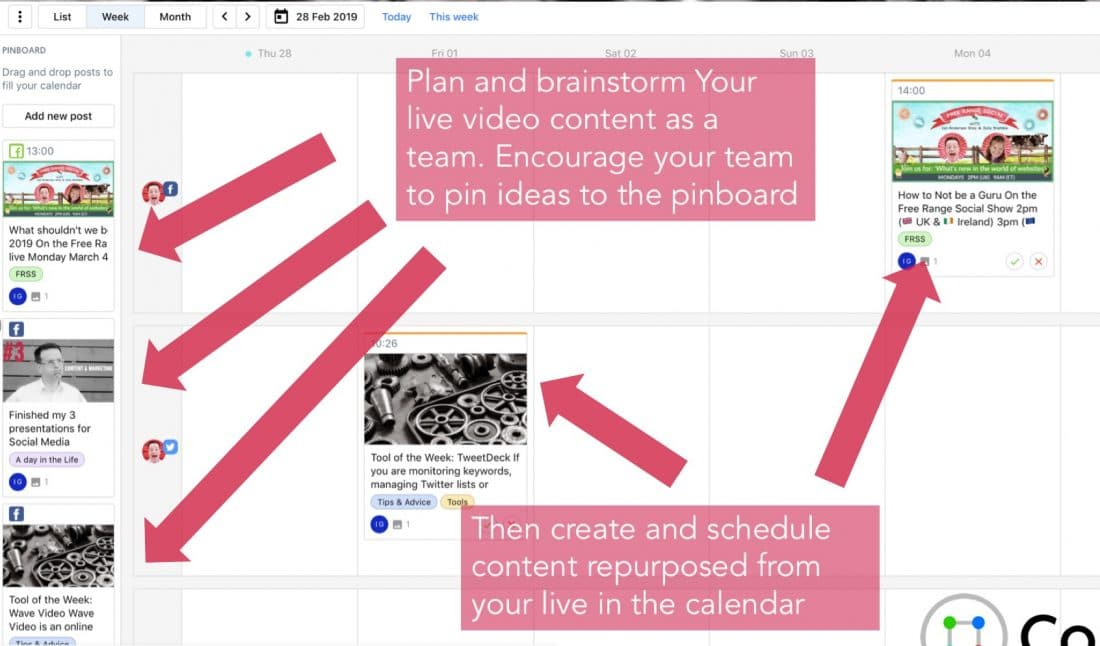 Planning your LinkedIn Live Videos using ContentCal