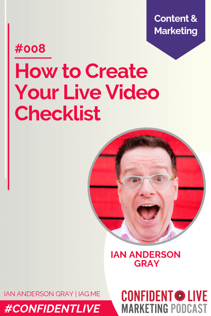 How to Create Your Live Video Checklist