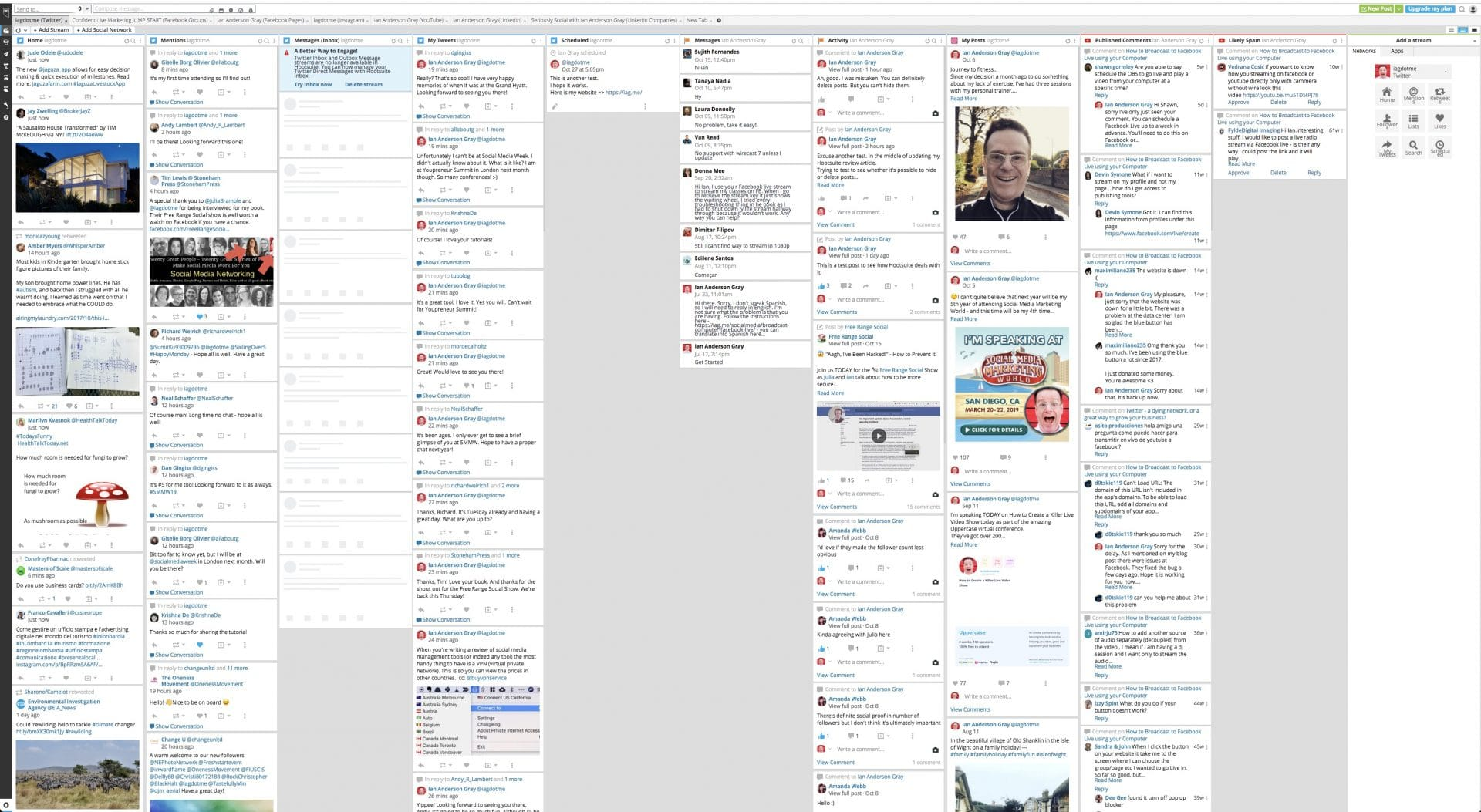 Hootsuite's Multi-Column Layout