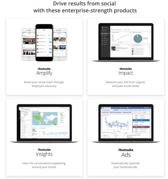 Hootsuite's Enterprise Products