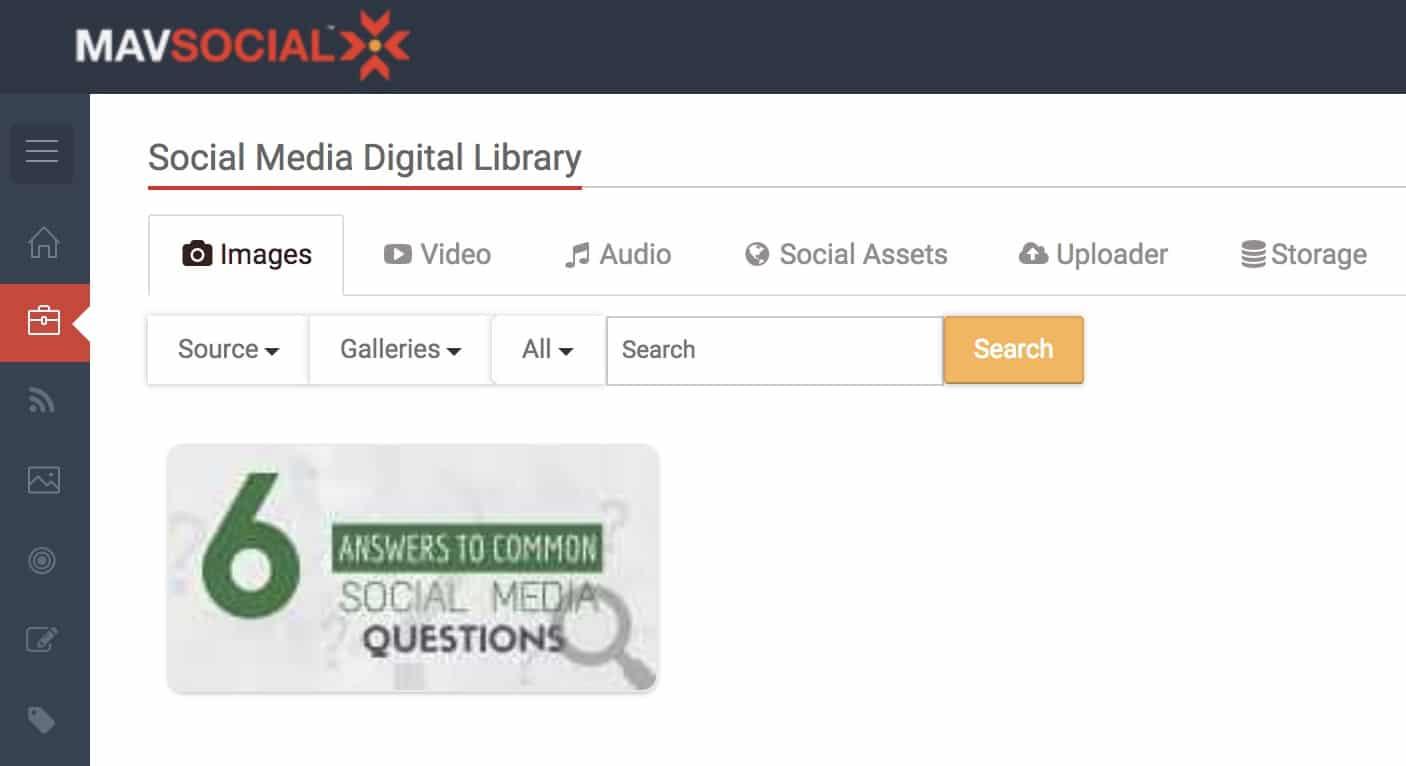 MavSocial's Digital Library