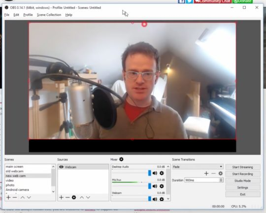 Screenshot of OBS Studio