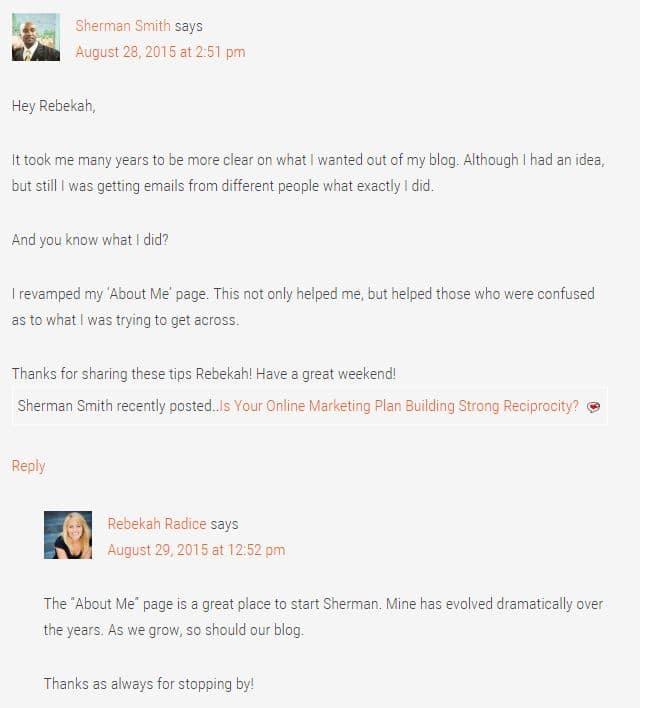 Rebekah Radice Comments