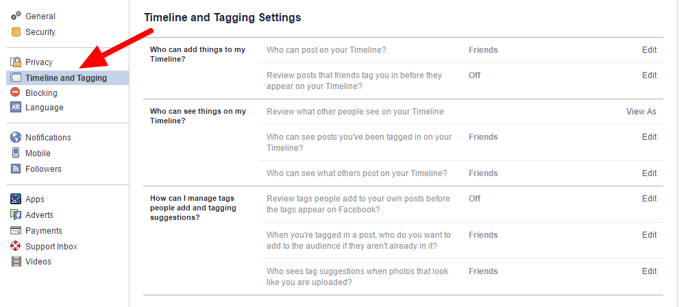 How to make my facebook private to non friends