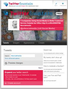 Twitter Fountain