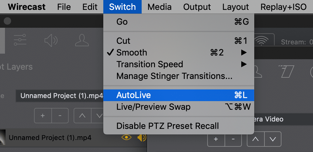 Wirecast AutoLive