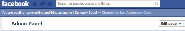 Facebook profile switching