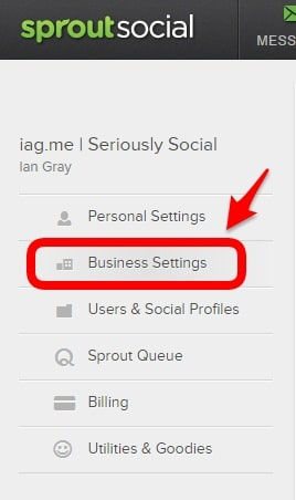 SproutSocial bitly setting
