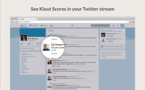 Klout Extension