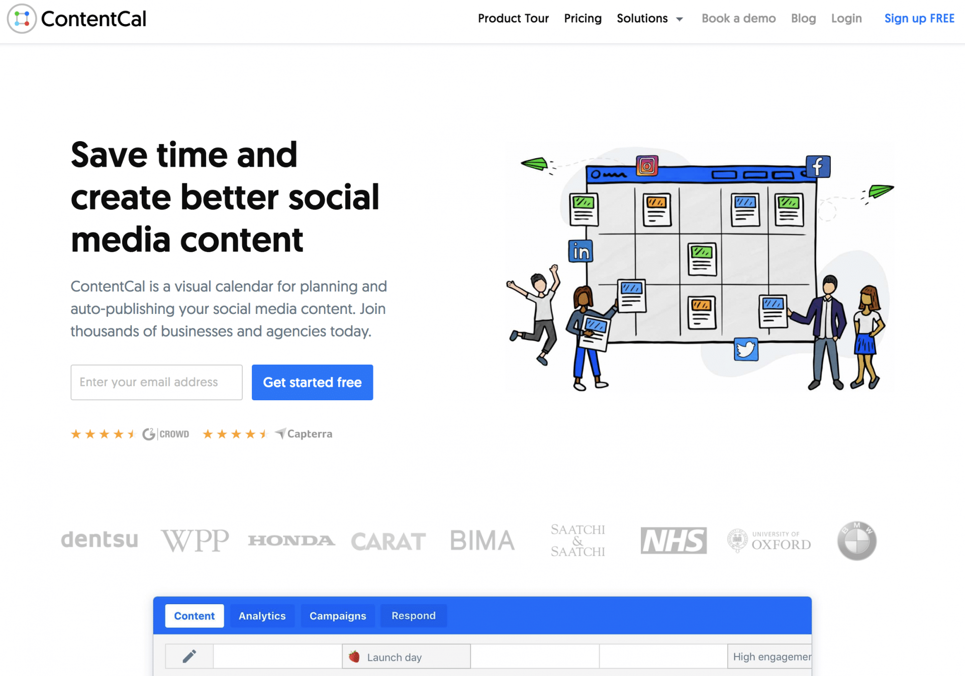 The ContentCal Home Page