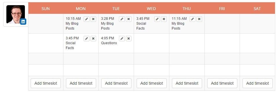 Edgar LinkedIn Schedule