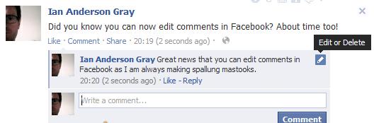 Edit Facebook Comment