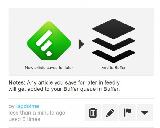 Feedly to Buffer