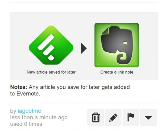 feedly to evernote