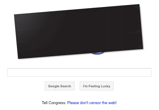 Google Blacked Out Logo