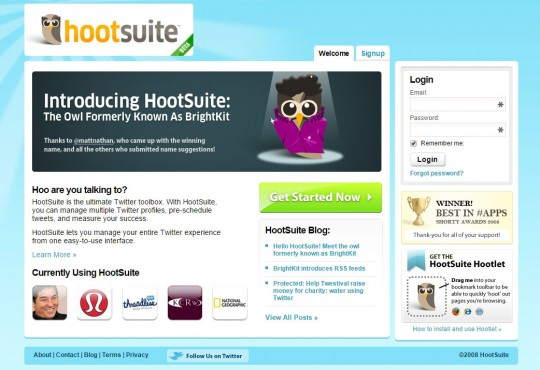 Hootsuite in 2009