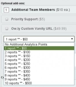 Hootsuite plans screenshot