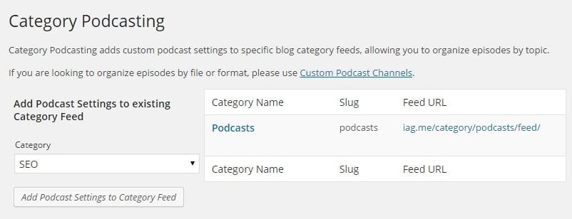 PowerPress Category for Podcast