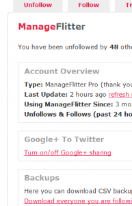 Manage Flitter Screenshot