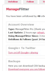 Manage Flitter Screenshot