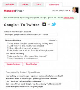 Manage Flitter Screenshot 2