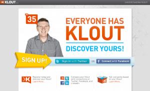 Klout Screenshot