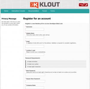 Klout Dev Screenshot 1