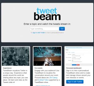 Tweet Beam