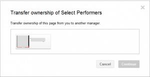 Tranfser ownership Google+