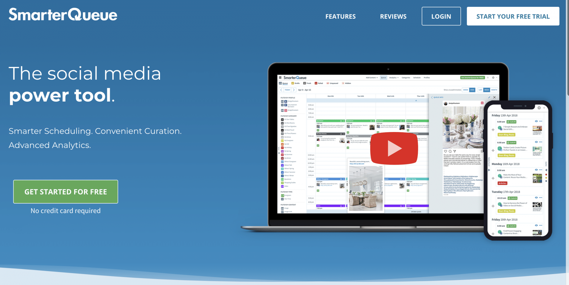 The SmarterQueue Home Page
