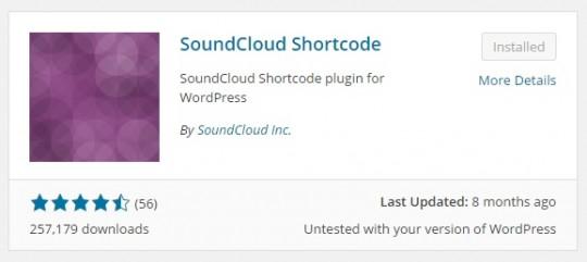 SoundCloud Shortcode WordPress Plugin