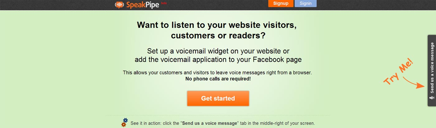 speakpipe screenshot