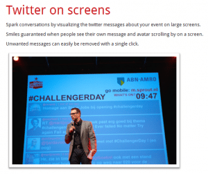 triqle- Twitter on Screens