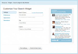 Twitter Search Widget