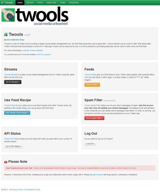 Twools Home Page